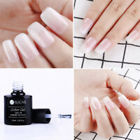 7.5ml Gelée Blanche Opale UV Gel Nail Art Semi Permanent Vernis à ongles Salon