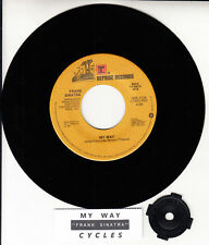 "FRANK SINATRA My Way & Cycles  7"" 45 rpm record + juke box title strip BRAND NEW"