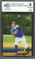 2008 Stadium Club #107B Clayton Kershaw Rookie Card BGS BCCG 9 Near Mint+
