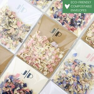 Charleston Envelopes with Luxury Wedding Confetti Real Dried Petals Eco-friendly