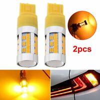 2x Canbus No Hyper Flash Amber Yellow T20 7440 W21W LED Bulbs Turn Signal Lights