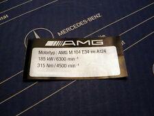 Original Mercedes Motor-Aufkleber AMG M104 E34 im A124