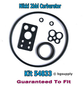 54833 Briggs & Stratton Nikki V Twin Carburetor Rebuild Kit w/Extension Tube