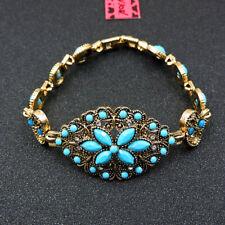 Betsey Johnson Fashion Jewelry Beauty Flower Gemstone Bangle Bracelet