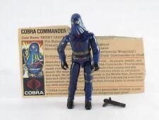 GI Joe Cobra Commander Mail-Ins 1984 Original Vintage Complete