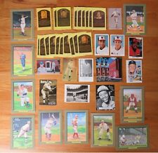 43 Vintage BASEBALL HOFers Perez Post Cards TED WILLIAMS BABE RUTH MICKEY MANTLE