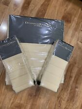 New!Donna Karan Casual Luxury Quilt F/Queen Coverlet & Two Euro Quilt Shams.Gold
