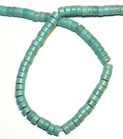 NG1779f Teal Blue-Green Turquoise 4x2-5x3mm Heishi Rondelle Magnesite Beads 15""