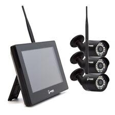 HD Funk Videoüberwachungsanlage 3x Kamera Fuß Monitor 2TB HDD Haus Überwachung