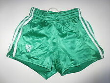 VINTAGE Short HEURTEFEU Sport Loisirs nylon satin vert 80's made in France 36 72