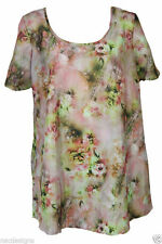Scoop Neck No Floral Plus Size Tops & Shirts for Women