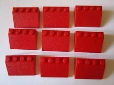 Lego 3297 x 9 pièces  Rouge Red  Toiture Tuile Home City très bon état