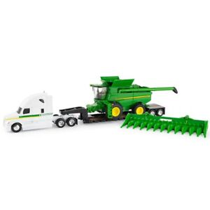 1/64 John Deere S780 Combine w/ Semi Lowboy Trailer and Corn Head LP68846 45656