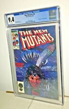 New Mutants #18, CGC 9.4, White Pages