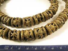 Strang 15mm Messingperlen V1 Gelbguß Ghana Brass Beads Ashanti Akan Afrozip