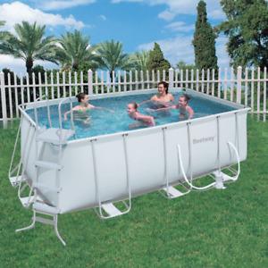 Bestway 56456 pool 412x201x122h cm rectangular with frame pump ladder power stee
