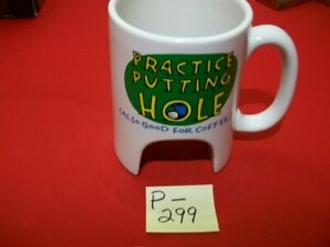 FANTASTIC TRAVELING PRACTICE GOLFING PUTTING HOLE AND CAFFEINE (COFFEE) CARRIER