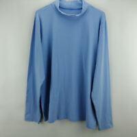 Denim & Co. Essentials Long Sleeve Mock Neck Top Chambray XS  A202931
