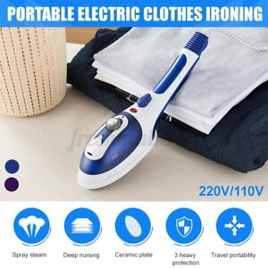 Portable Garment Steamer Handheld Iron Steam Clothes Wrinkles Remove Home  AU2