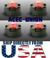 4 X High Quality MG 1/100 QANT Raiser Gundam RED LED Lights - U.S.A. SELLER