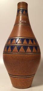 seltene Ceramano Keramik Vase 183 Dekor Sargon mit Label WGP