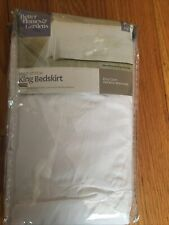 """New! Better Homes & Gardens King Size Loop Stitch Bed Skirt Beige 14""""x 78""""x80"""""""