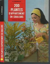 200 plantes d'appartement en couleurs.G.KROMDIJK.Maison Rustique 1974  Z004