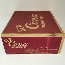 Vintage Cona Presentation Set Standard 2 Pint Kitchen Model Table Warmer etc