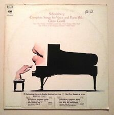 Glenn Gould 1972 Playtested LP PROMO M31311 Schoenberg Complete Songs For Voice