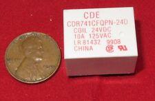 CDE Relay, 24V DC / 125V AC 10A Coil, 450mW SPDT, PC Mount Mini CDR741CFQPN-24D