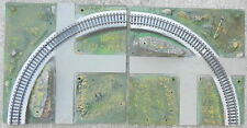 American Flyer ALL ABOARD Scenic Panel Train Layouts S Scale ~ 2 pc. of Curved