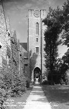 Fayette Missouri~Central Methodist University~Cross Clock Tower~1940s RPPC
