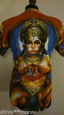 HIPPY FESTIVAL GOA HINDU GOD T SHIRT MED/LARGE HANUMAN COTTON FAIRTRADE 1812C