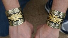 All Brass Greek Roman Officer thunderbolt fulmen arm bracers wrist guards armor