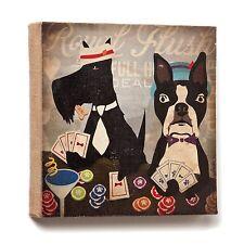 Dogs Rock 1003050004 Royal Flush Burlap Dog Wall Art