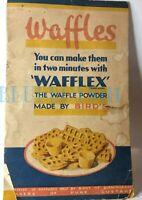 Vintage Wafflex Birds Waffle powder advertising leaflet booklet