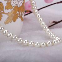 Women Natural Freshwater fake pearl Necklace Bracelet Earrings Set.UK Gift
