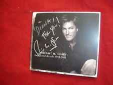 MICHAEL W.SMITH ~ THE SECOND DECADE1993-2003 US AUTOGRAPHED CD/DVD