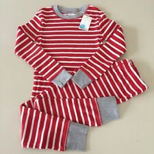 """Mini Boden Awesome Boys Red """"STRIPED"""" Pajama Set. Size 7-8 years. New!!"""