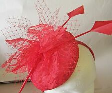 Ladies Red Lace Fascinator Hat,Race,Weddings,Formals,Party,Hat Making