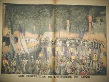 JAPON FUNERAILLES EMPEREUR GRAND DUC NICOLAS DE RUSSIE LE PETIT JOURNAL 1912