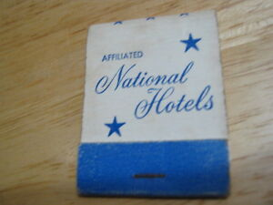Vintage Affiliated National Hotels used matchbook
