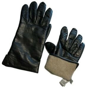 Coach leather driving gloves women's 6.5 black 100% cashmere lined made in ITALY