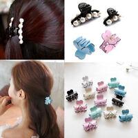 Korean Style Women Elegant Flower Hair Clip Claw Barrette Hairpin Clamp Headwear