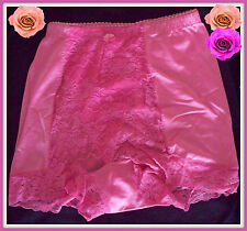 M Medium RHONDA SHEAR ROSE PINK Shabbie Chic LACE Control Brief PANTIE Boyshort