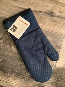 KitchenAid Navy Blue Oven Mitt (Color: Blue Willow) new