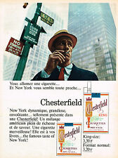 PUBLICITE ADVERTISING 045  1966  CHESTERFIELD    cigarettes NEW-YORK