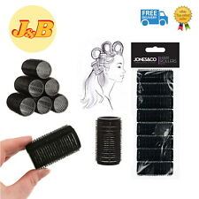 HIGH QUALITY 8 PACK Self Grip Rollers Cling Stick Hair Curler Curls Wave SALON