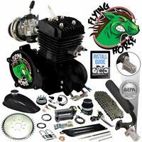 66/80cc Flying Horse EPA Approved Black 2-Stroke Motorized Bicycle Engine Kit
