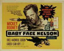 BABY FACE NELSON Movie POSTER 27x40 C Mickey Rooney Carolyn Jones Cedric